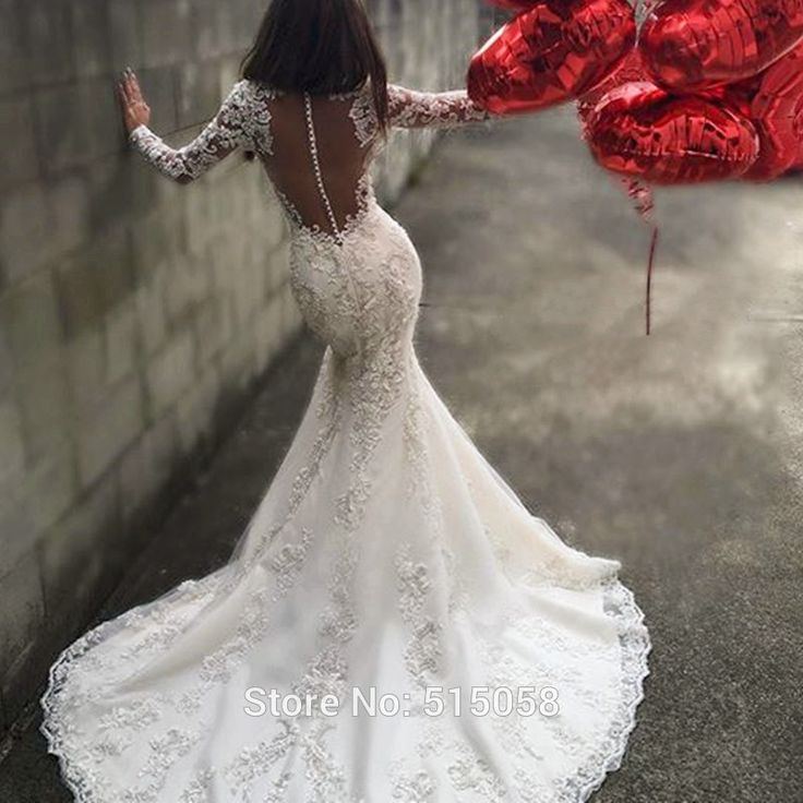 $199,illusion back lace mermaid wedding dress