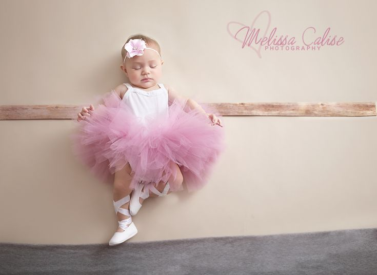 Melissa Calise Photography (Newborn Baby Girl Ballerina Dancer Dance Whimsical Tutu Headband Pointe Shoes Posing Ideas)