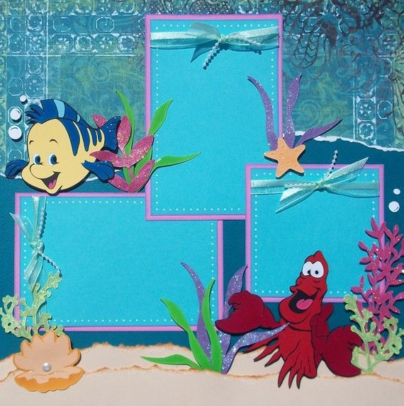 The Little Mermaid Layout 2 - Where was this a couple months ago - LOL