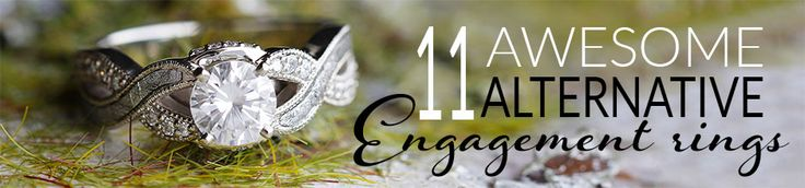 Below we present 11 amazing alternative engagement rings. Handcrafted featuring unique elements such as meteorite, morganite, moonstone, tanzanite and more.