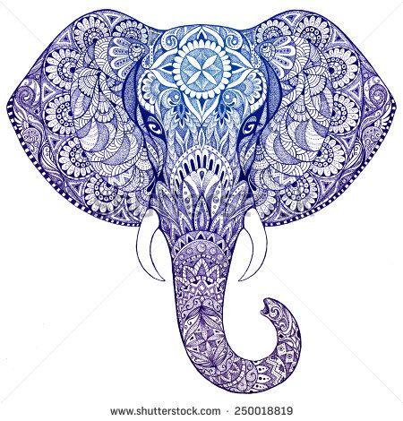 Great tattoo idea... Zentangle elephant tattoo..