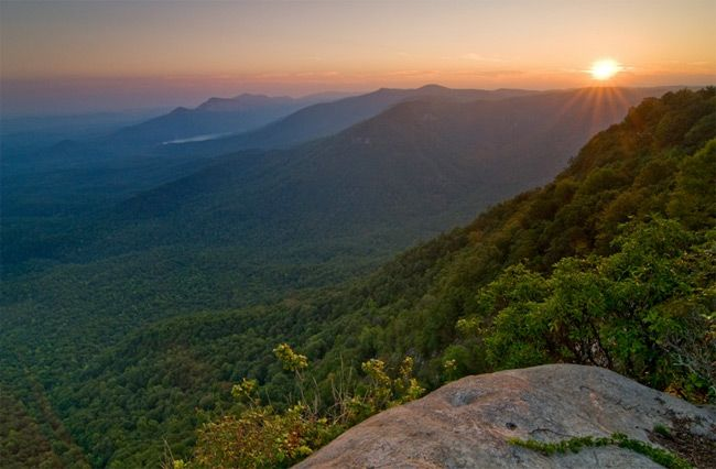 The view from Caesar's Head. It is near Table Rock State ...