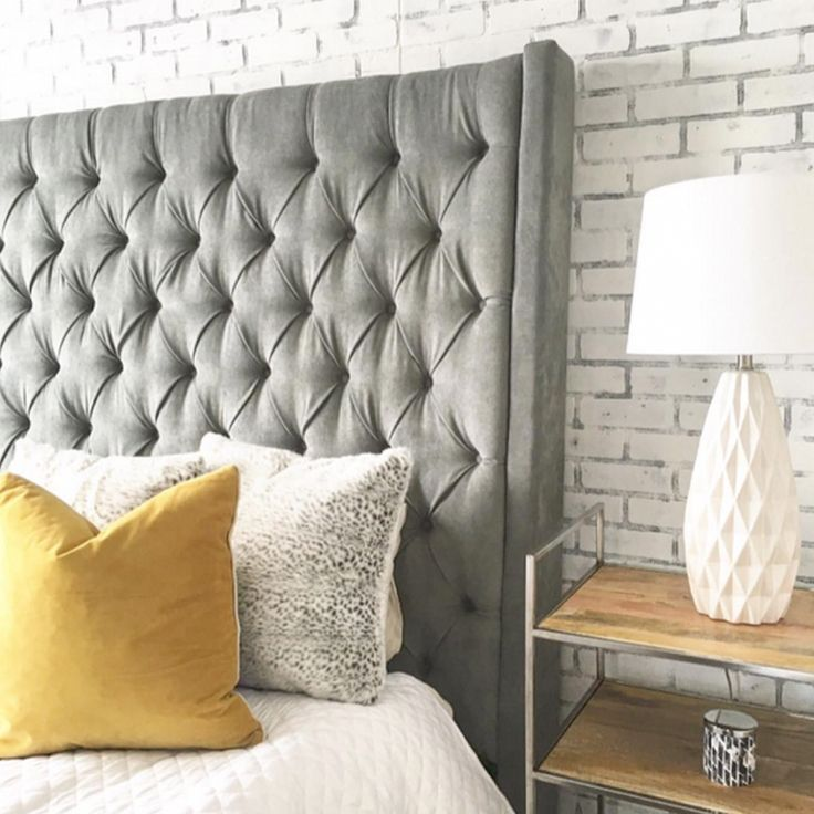 Tufted furniture is in! How beautiful is the Caprice Upholstered ...