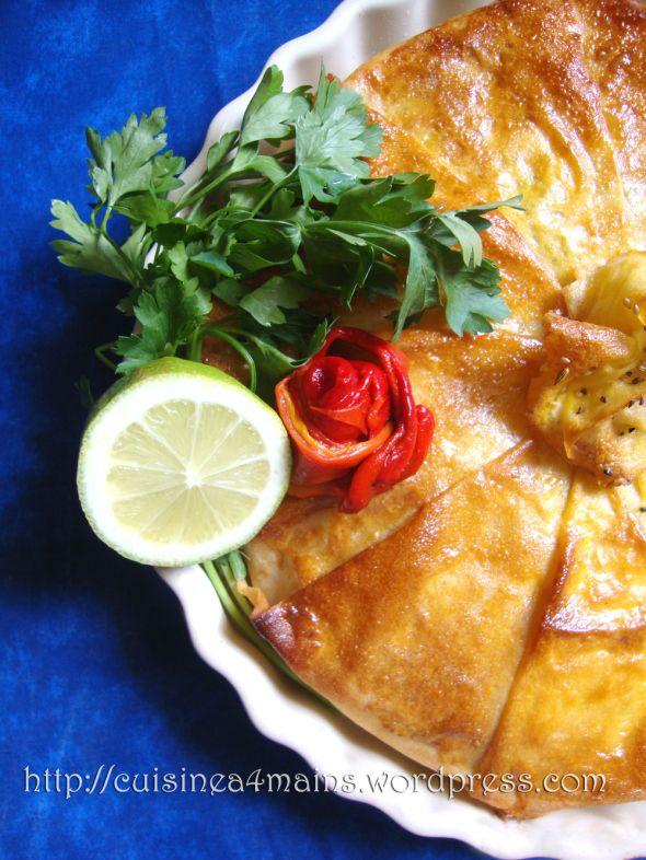 Pastilla aux fruits de mer- cuisine à 4 mains
