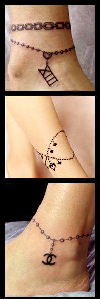 tatouage bracelet cheville femme