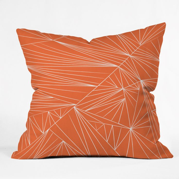 Vy La Tech It Out Orange Throw Pillow | DENY Designs Home Accessories