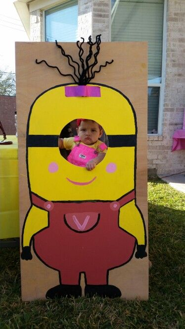 Girl Minion Photo Prop Selling mine for $30 - Houston Tx if you wanted shipped you'll have to pay for shipping.  5/26/16