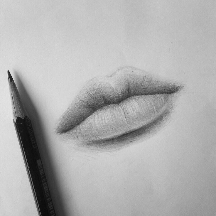 Black And White Drawings Google Search Sketches Lips Drawing