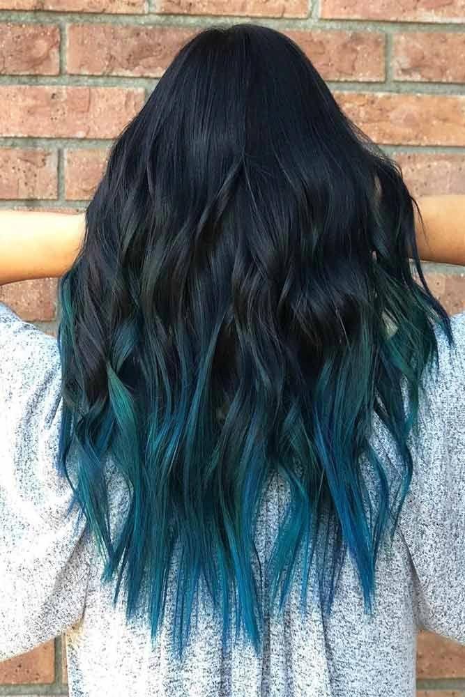 Wonderbaarlijk Pin van Raphaella op haren verven ideën   Blauw ombre haar, Zwart GC-57