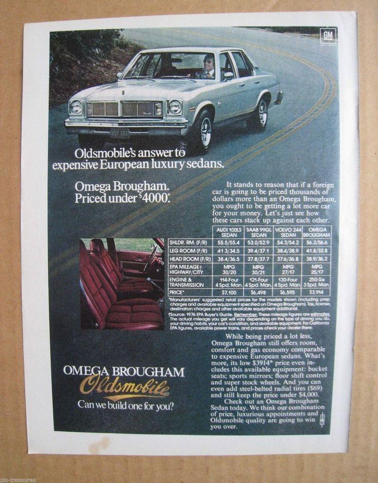 1976 Oldsmobile Omega Brougham Oldsmobile, Automobile