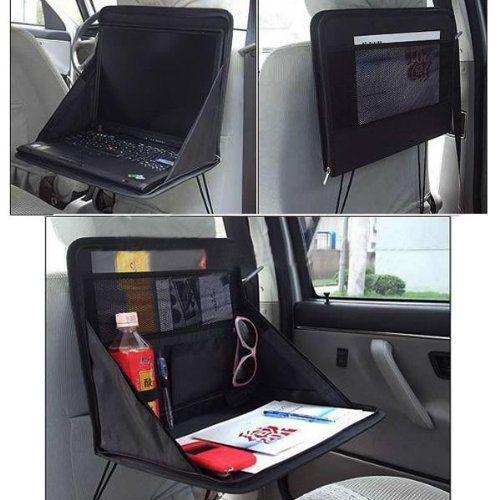 Borsa porta PC portatile da viaggio vassoio supporto sedile posteriore Auto per con gambe incrociate Organizer cavi rapstrap per dispositivi elettronici portatili/Gadgets