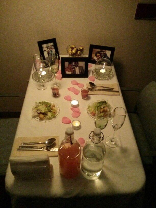Romantic dinner setting for two!
