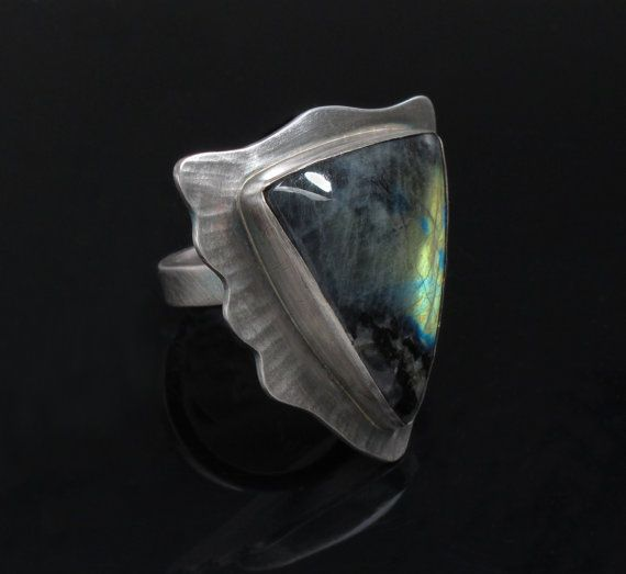 Aurora ~ Sterling Silver and Spectrolite Ring by Leslie Zemenek for Z Leslie Jewelry