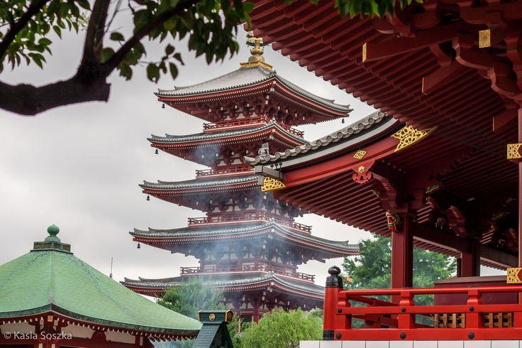 Pagoda at Senso-ji Temple