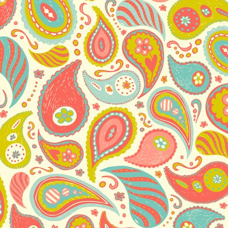 Someday, when i have time to quilt again, i will buy fabric from this amazing website.  Power Paisley fabric by heatherdutton on Spoonflower - custom fabric: Heatherdutton, Paisley Fabrics, Custom Fabrics, Power Paisley, Paisley Prints, Fabrics Design, Paisley Patterns, Girls Rooms, Heather Dutton