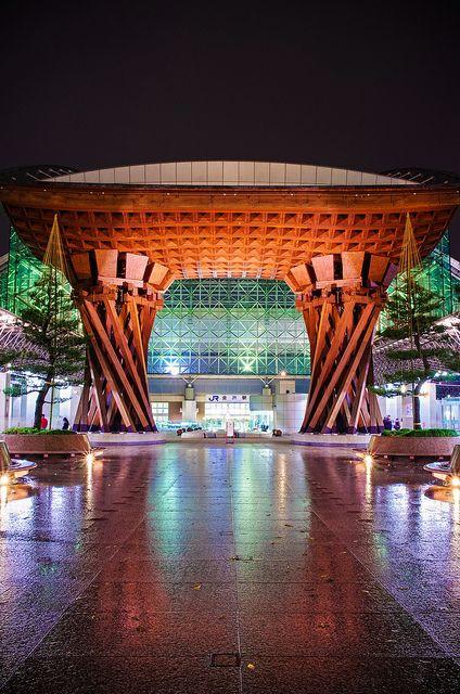 Kanazawa Station East entrance, Ishikawa, Japan