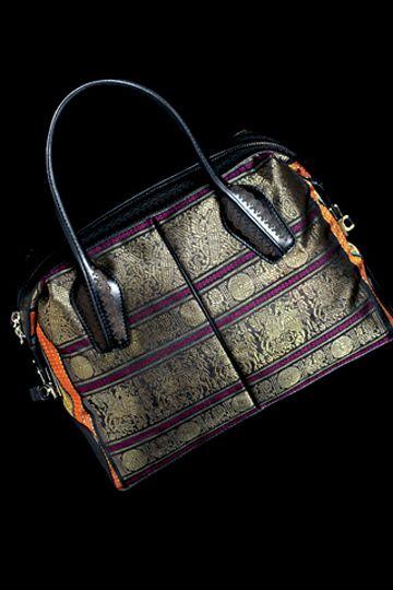 Tod's #Bag with Kanchipuram Silk, via @VogueIndia  ~
