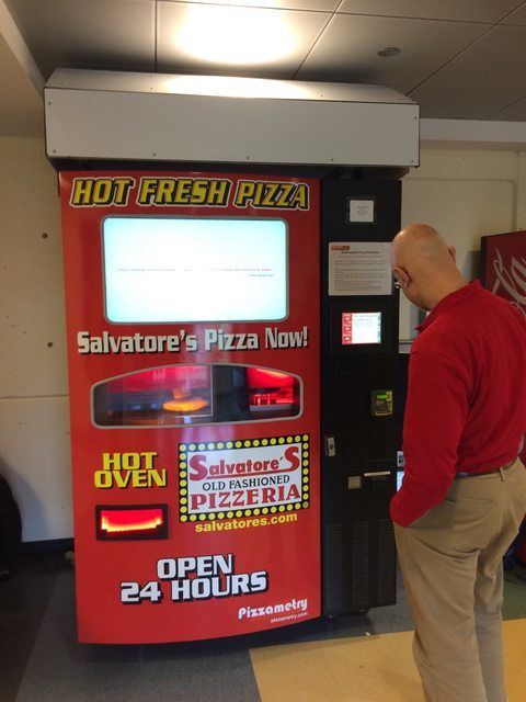 So, my college has a pizza vending machine now.