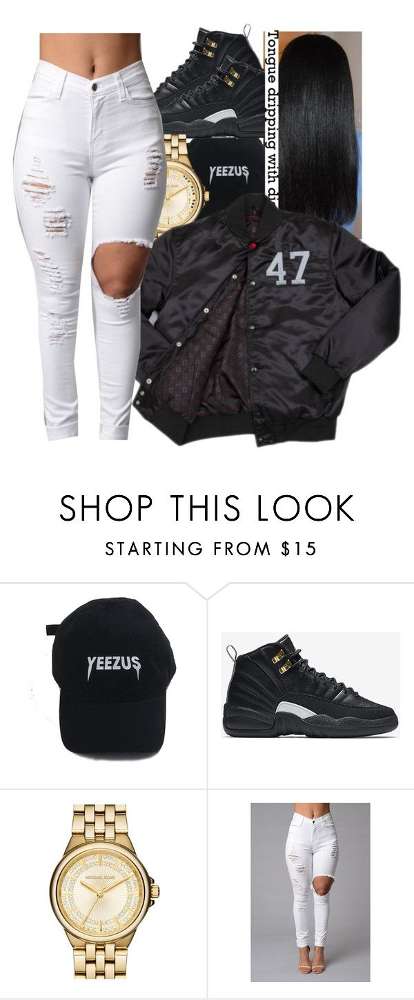 """Untitled #517"" by oh-thatasia ❤ liked on Polyvore featuring NIKE, MICHAEL Michael Kors and Trapstar"
