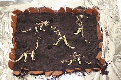 Dino excavation cake. I have other ideas for the main cake but I might make a small one like this as a gluten free option.