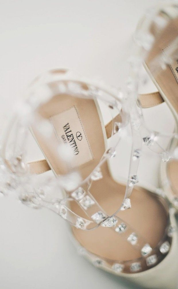 The most popular wedding shoes for this year are elegant, unique and add a rock-star glam with the studs. We love these Valentino Rock Stud heels for a wedding day look.