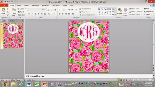 how to make a customized monogrammed binder cover for school! if you don't like lilly pulitzer, you can put your own image in for the background. really easy and super cute!