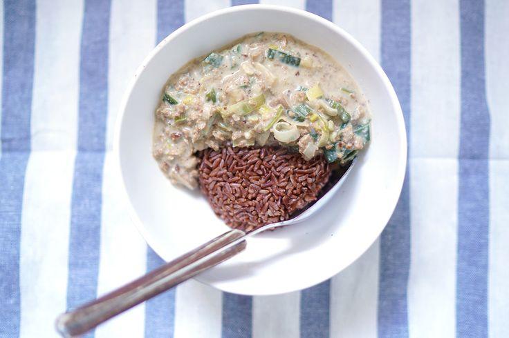 vegane Sahnesoße - leckeres Gericht zum Abnehmen