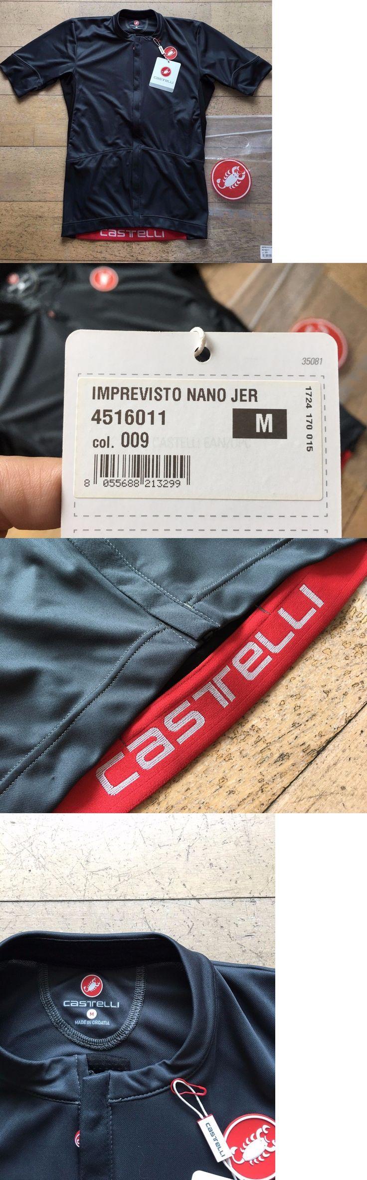 Jerseys 56183: New Castelli Imprevisto Nano Jersey Road Cyclocross Bike - Size Medium - Black -> BUY IT NOW ONLY: $69.95 on eBay!