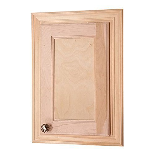 Recesses in the wall between studs! easy installation. Simply put construction adhesive (not included) on the back side of the frame and push it into the opening in your drywall. Two fully adjustable glass shelves. Concealed hinges, door is left undrilled for a knob or handle so you can mount it... see more details at https://bestselleroutlets.com/home-kitchen/furniture/bathroom-furniture/product-review-for-wood-cabinets-direct-electra-124-electra-recessed-solid-wood-medicine