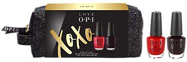 OPI Love OPI Nail Lacquer Duo And Make Up Bag Gift Set