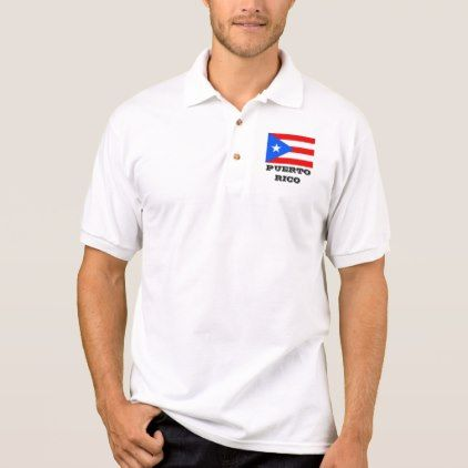 #party - #Puerto Rico flag custom polo shirt for men & women