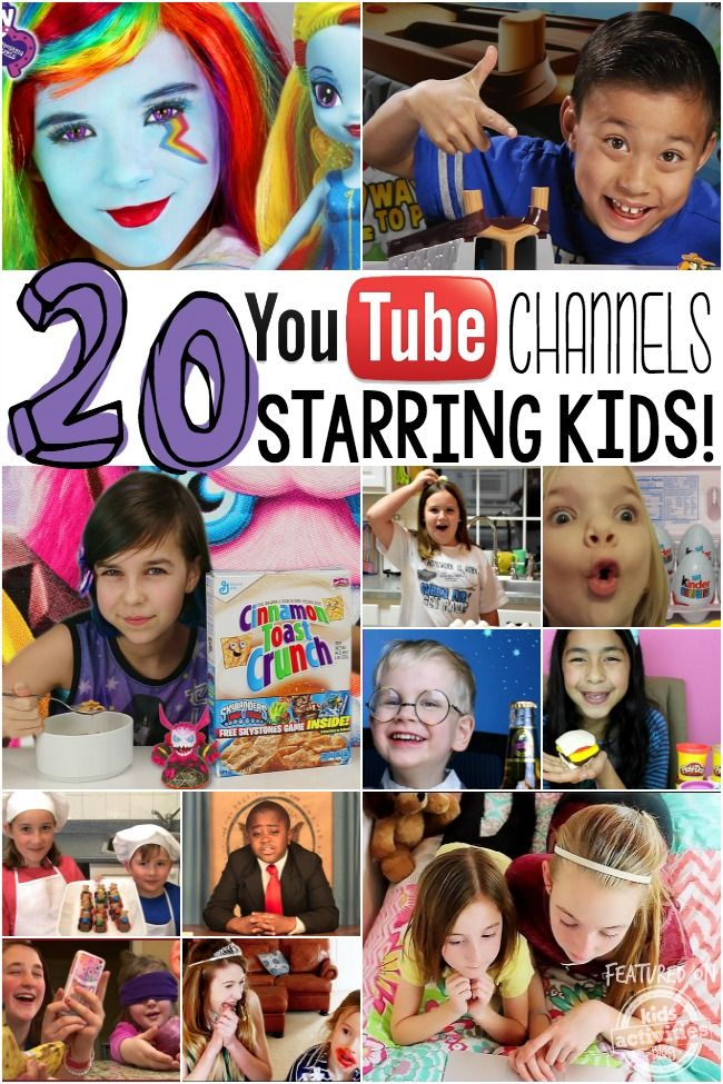 The very best YouTube channels starring kids. These are so much fun!