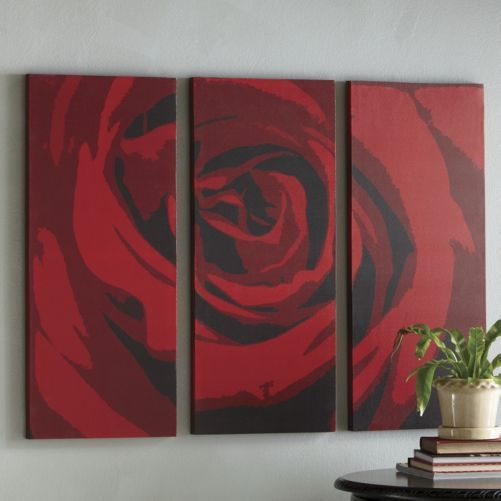 3 Piece Red Rose Art Set From Seventh Avenue My House My Home