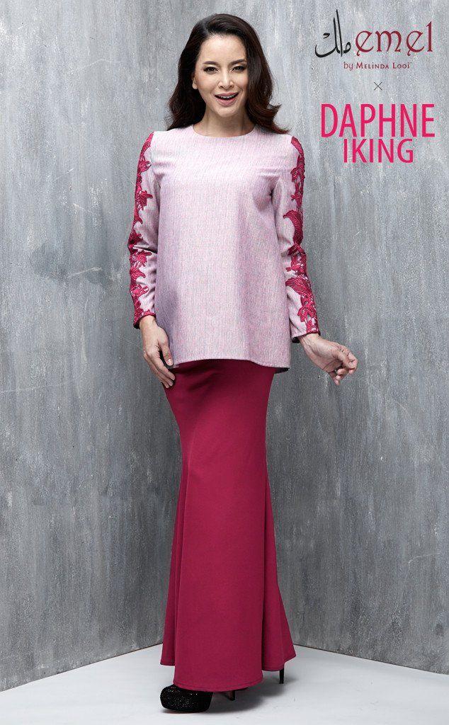 emel x daphne iking baju raya baju kurung moden