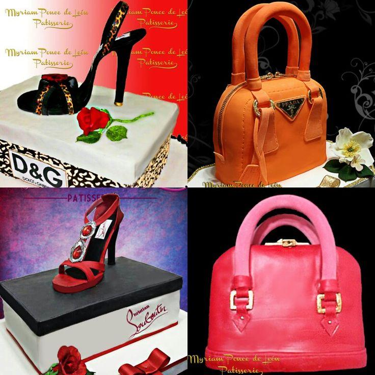 Cakes en carteras y sandalias de azucar personalizadas para las mas coquetas y elegantes
