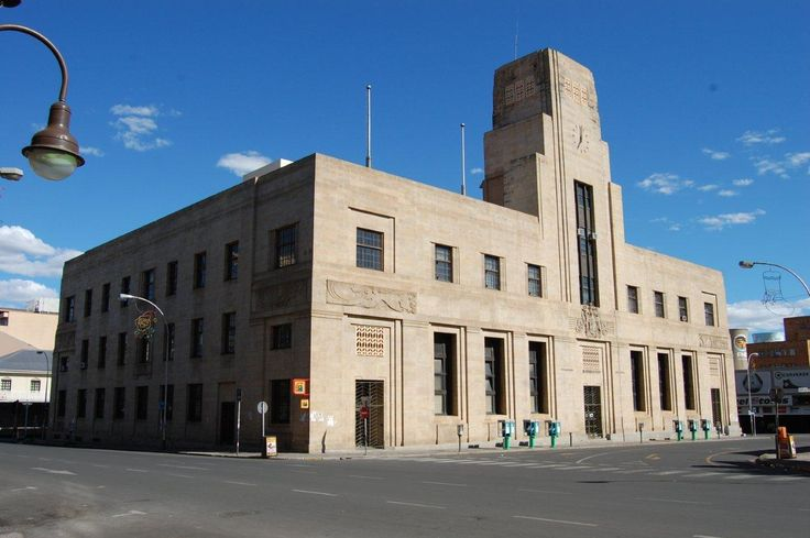 Bloemfontein Post Office, surely South Africa's most beautiful art deco building