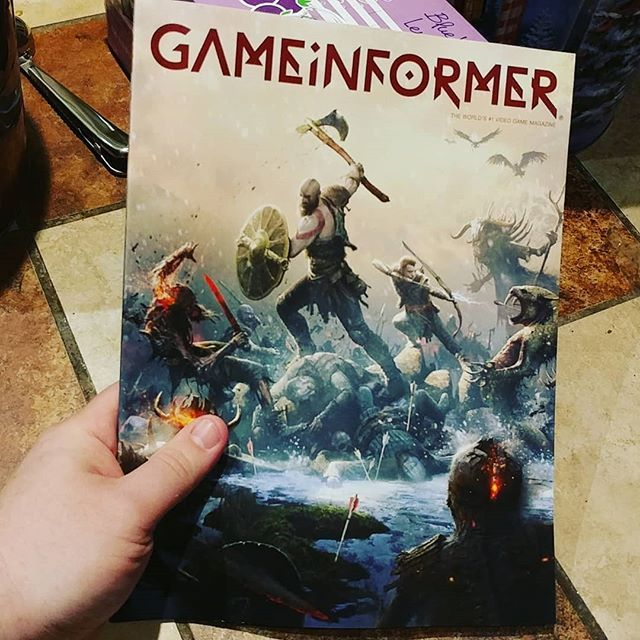 Cover game on point. Game Informer this month. --------------- #gameinformer #gaming #games #godofwar #ps4 #gamer #awesome #geek #nerdmuch
