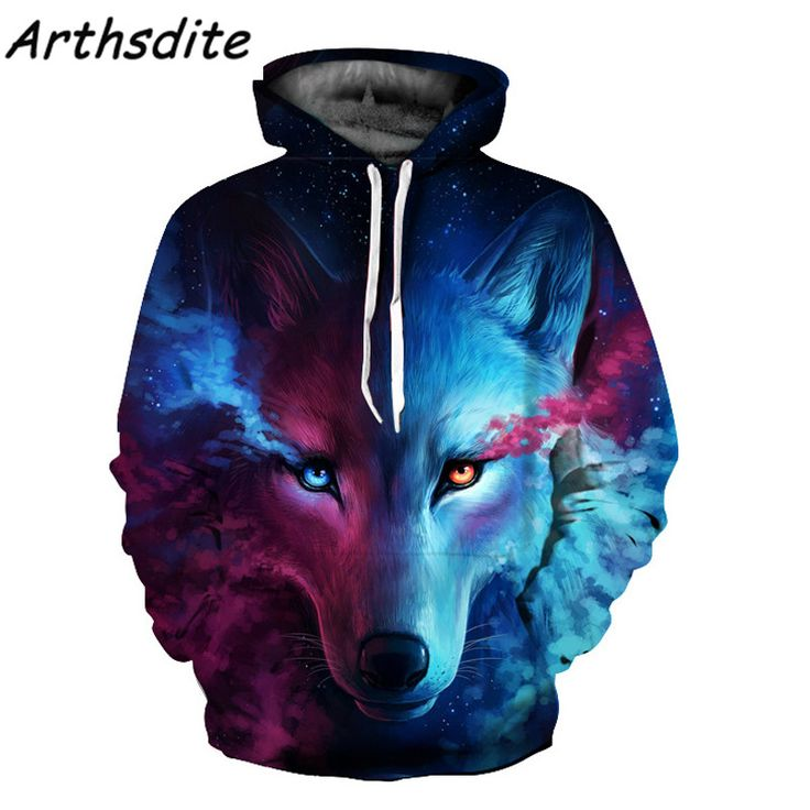 Space Galaxy Lion Wolf 3D Animal Print Hoodies Unisex Plus Size S 3XL Pullovers Autumn Winter. Click visit to buy