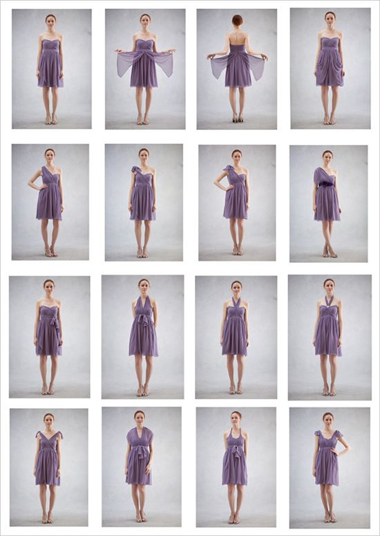 Jenny Yoo convertible Nabi bridesmaid dresses , so cool that you can wear a dress so many ways, you can order one dress for all your bridesmaids, but have them wear different styles...fun
