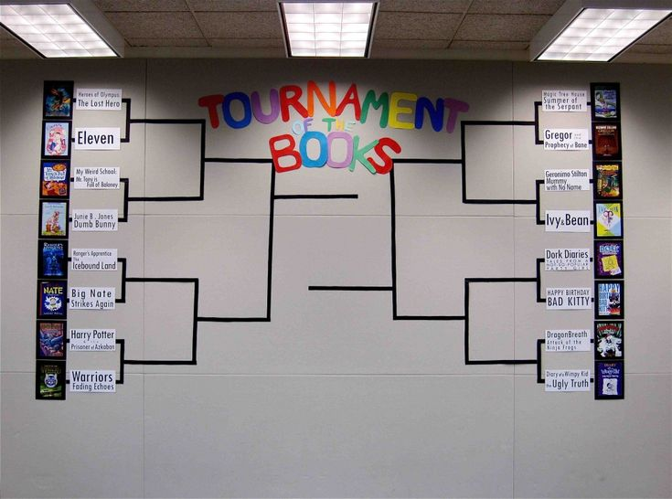 Tournament of Kids Books--  To celebrate March Madness, 16 favorite kids books face off bracket style.