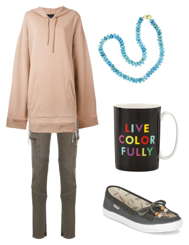 """""""Pocahontas 2"""" by ermosher on Polyvore featuring Armani Jeans, Puma, Irene Neuwirth, Victoria and Kate Spade"""
