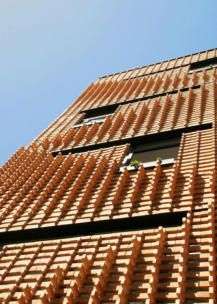 brick pattern house | alireza mashhadimirza | tehran, iran