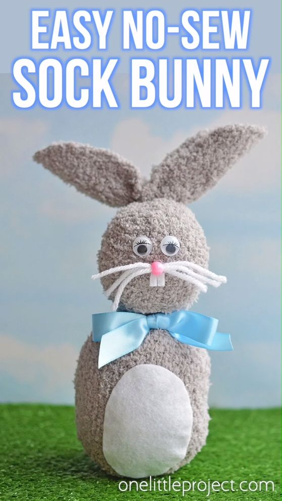 Easy No-Sew Sock Bunny