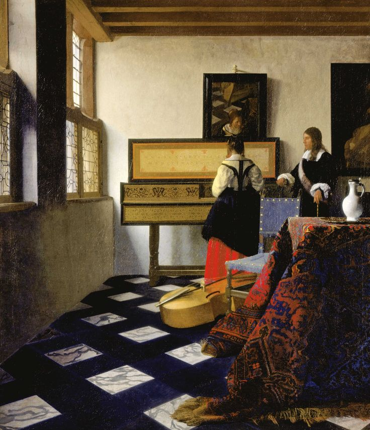 Johannes vermeer the music lesson 1662 65 pinterest for Biographie de vermeer