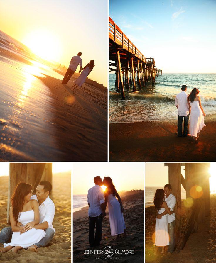 Balboa Beach, Newport, CA, engagement photography idea, urban, ocean, sunset, fun zone, outfits, clothing, pier, sand, water, Gilmore Studios