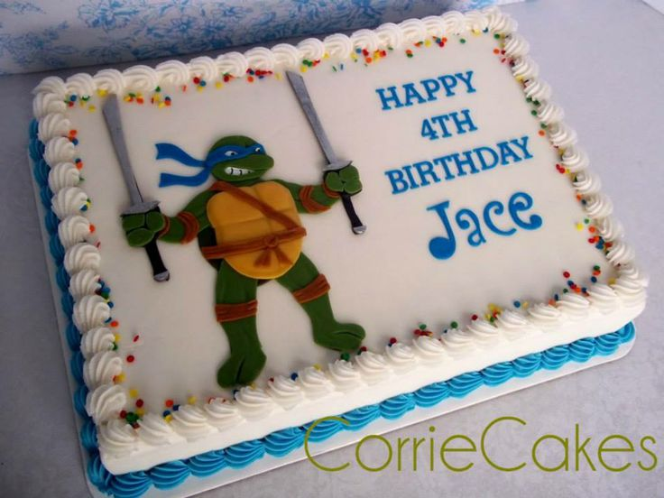 Ninja Turtle Birthday Sheet Cake Ideas 91729 | Ninja Turtle