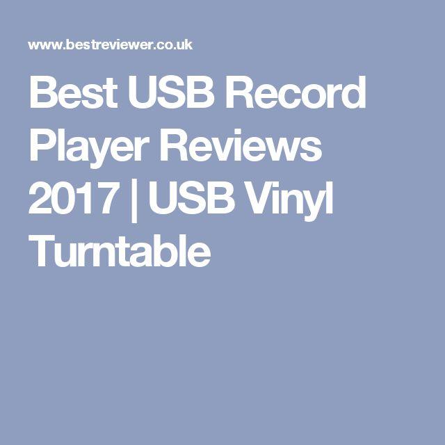 Best USB Record Player Reviews 2017 | USB Vinyl Turntable