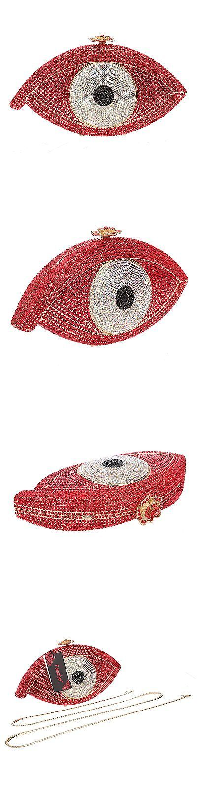 Bridal Handbags And Bags: Fawziya Eye Shape Crystal Wedding Purses And Handbags Evening Bag-Red -> BUY IT NOW ONLY: $126.39 on eBay!
