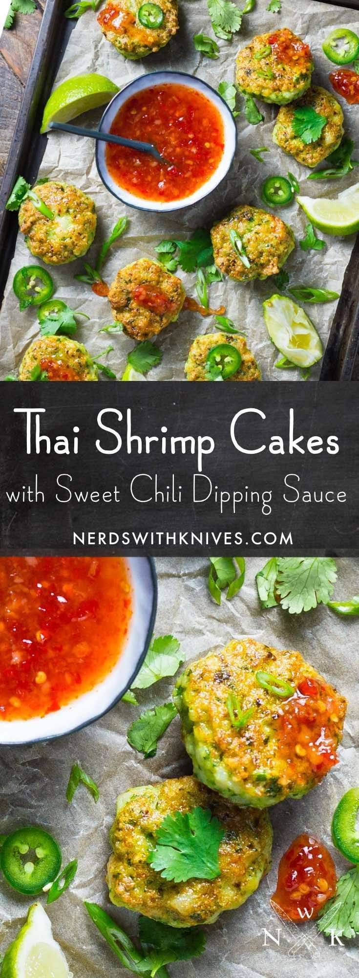 Mini Thai Shrimp Cakes with Sweet Chili Dipping Sauce