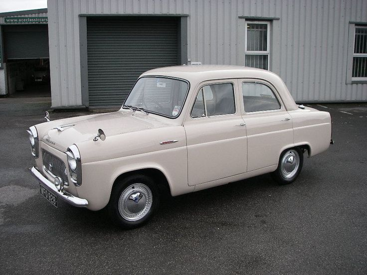 1955 Ford 100E Prefect 4 Door Saloon. This is a beautiful car. So simple and the proportions just look so good to me.